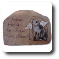 Carson Whiskers and Tails Cat Memorial Stepping Stone