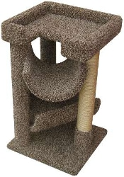 Bush Dwellers Large Carpeted Cat Tree
