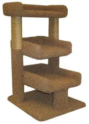 Carpeted 3 Tier Cat Perch