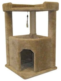 Carpeted Cat Condo For Large Cats
